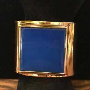 Vince Camuto Gold Blue Stone Wide Cuff Never Worn